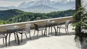 Ротанг Форли: комплект:стол кофейный 70х70+2 полукресла