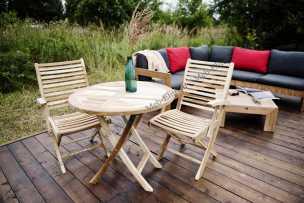 Ротанг Асти комплект: стол обеденный 80х80+4 кресла