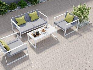 Делиция мягкая мебель: диван 2 местный + кресло + кофейный столик