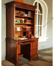 Кембридж стол письменный с надстройкой орех