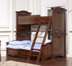 Афина орех кровать 2 этажная увеличенная