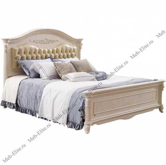 Карпентер 230 кровать с изогнутым изголовьем А с основанием 160×200  (кожа 9715)