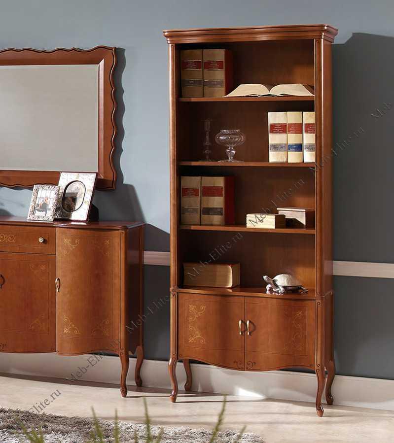 Панамар (panamar) книжный шкаф 725.000 орех/вишня - купить с.