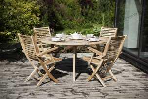 Ротанг Модена комплект: стол обеденный 150х150+4 кресла