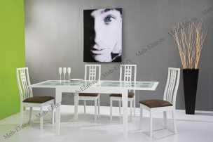 Бенсон столовая комплект: стол обеденный Бенсон 120/240х90 + 6 стульев Бетти