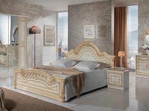 Селена спальня бежевая глянец