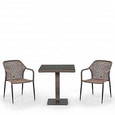 Комплект мебели 2+1 T601G/Y35G-W1289 Pale 2Pcs иск. ротанг