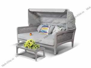 Ротанг Лабро комплект: кровать для отдыха+стол кофейный