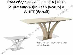 Орхидея стол обеденный раскладной 160/210х90 (белый)