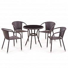 Комплект мебели 4+1 T282ANS/ Y137C-W51-4PCS иск. ротанг