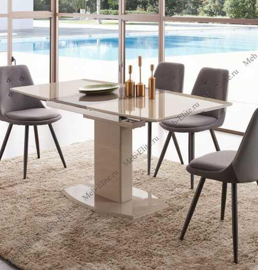 ЕСФ стол обеденный 120/160х80 DT2017-6 шампань