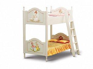 Французкие мотивы кровать 2 ярусная 90х190 (детская)