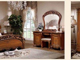 Аллегро 2 д 1 (SL) спальня комплект: кровать 180+тумба прикроватная 2 шт.+туалетный стол с/з+шкаф 4 дверный