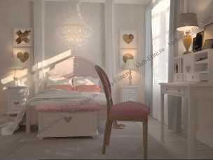 Аделина спальня розовый