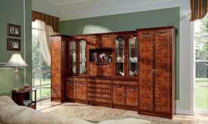 Рим гостиная комплект: стенка R62+шкаф R46+шкаф R45 орех