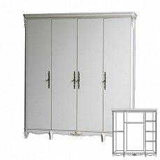 Белая роза шкаф 4 дверный F6648 S06