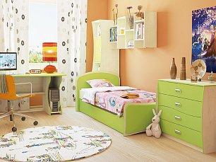 Комби МН-211 спальня комплект: 2-дверный шкаф (МН-211-16) + кровать (МН-211-09) + комод (МН-211-24) + стол (МН-211-05)