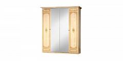 Европа 11 шкаф 4 дверный с зеркалом беж