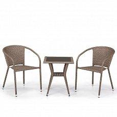 Комплект мебели 2+1 T25B/Y137C-W56 Light Brown 2Pcs иск. ротанг