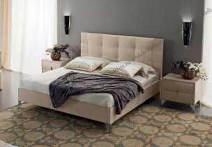 Дуно cпальня комплект: кровать 180х200 + 2 тумбы прикроватные, выставочный образец
