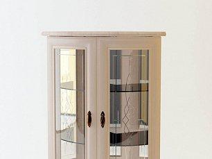 Милан шкаф 2-дверный для посуды угловой стеклянный 5 позитано