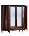 Версаль шкаф 4 дверный с зеркалом (венге)