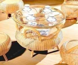 Мик ротанг чайный столик 70х70 MK-3447