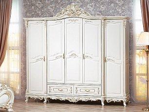 Федерика шкаф 5 дверный крем глянец