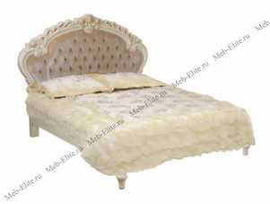 Белый Цветок кровать 160х200 8801C/8812 велюр