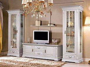 Витовт гостиная комплект: Витрины левая+правая + тумба ТВ белая