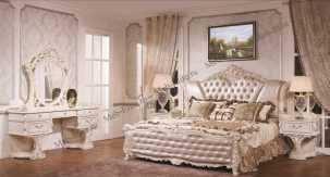 Карнелла спальня комплект: кровать 180х200+2 тумбы прикроватные+стол туалетный+шкаф 5 дверный