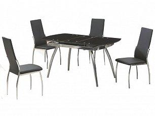 Мик комплект: стол обеденный B179-49 (MK-4302-BL) 121/150х75 + 4 стула DC-36  (MK-4310-BL)