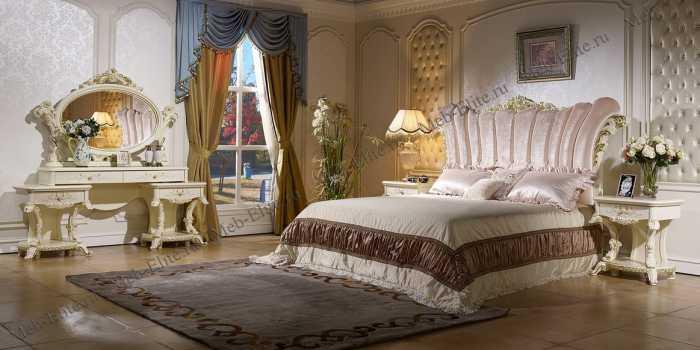 Роял спальня слоновая кость+золото