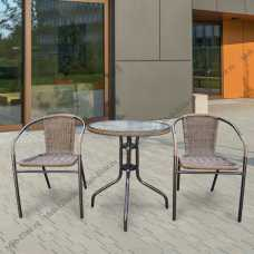 Комплект мебели Асоль-1А (иск. ротанг) капучино TLH-037A/087A-60