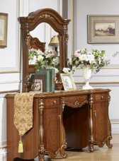 Юлиана 3172 стол туалетный с зеркалом и банкеткой