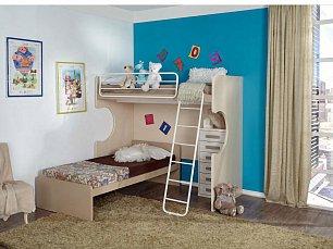 Данза детская 16: кровать-чердак +кровать+комод
