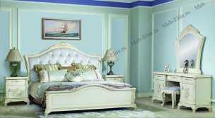 Анетта 1320 спальня комплект: кровать 180+туалетный стол с/з+2тумбы прикроватные+шкаф 4 дверный