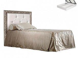 Тиффани кровать 120х200 с мягким элементом и подъемным механизмом штрих-серебро