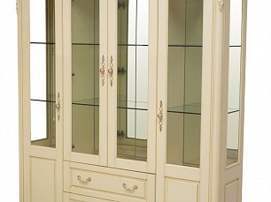 Белый Цветок витрина 4 дверная 8801