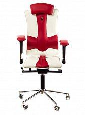 ELEGANCE кресло рабочее бело-красное