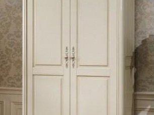 Белый Цветок шкаф 2 дверный 8801