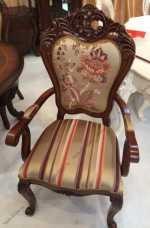 Мона Лиза стул с подлокотником орех