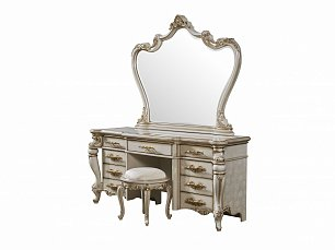 Опера Крема стол туалетный с зеркалом глянец