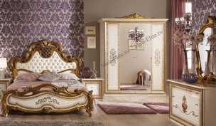 Анита спальня комплект: кровать 160, тумба -2шт,  шкаф 4-х дв