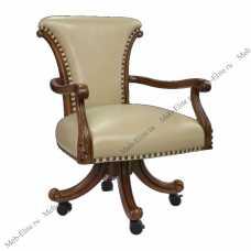 Карпентер 230-1  стул вращающийся с подлокотниками (кожа А008/ПВХ) орех