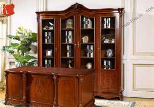 Моника кабинет комплект: шкаф 2 дверный+стол письменный орех