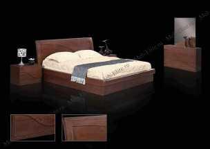 Андромеда спальня комплект: кровать 160 + комод + 2 тумбы + 4 дв.шкаф (махагон)