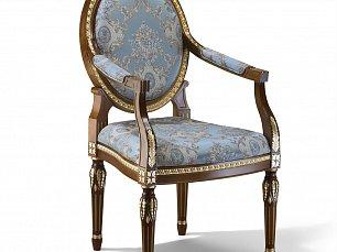 Зиббо кресло арт. 65 орех с золотом