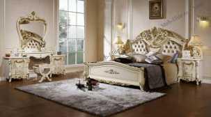 Энрика спальня комплект: кровать 180х200 + 2 тумбы прикроватные + туалетный стол с зеркалом + шкаф 5 дверный + пуф