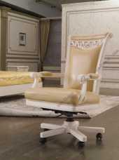 Карпентер 230 кресло рабочее белое (кожа 008/ПВХ)